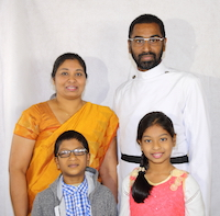 Rev. Binu Thomas & Family
