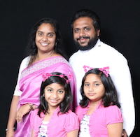 Rev. Liju John & Family